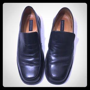 Bostonian Black Leather Slip On Loafer 11M